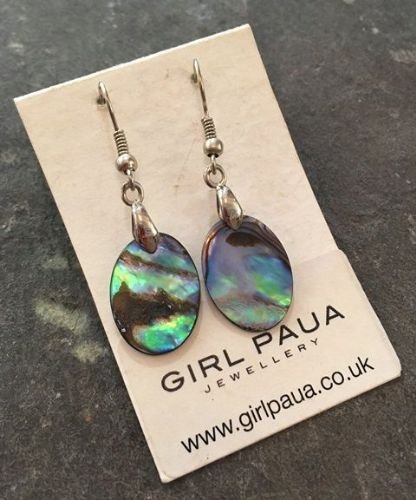 Paua Small Oval Earrings PE03-SV